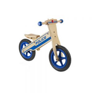 MESSINGSCHLAGER Police wooden Action Bikes
