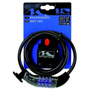 M-WAVE Digit Spiral Cable Lock Action Bikes